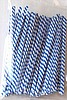 BLUE-WHITE STRIPE 4 Inch Twistie Bag Ties (Box of Qty 2000)