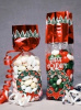 2 3/4 x 2 x 11 CHRISTMAS WREATH Foil Accented Stand Up Deluxe Gusseted Cello Bags w/SOFT BOTTOM 1# (Qty 25)