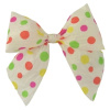 FUN DOTS Raffia 4 Inch Bow on 6 Inch Gold Twistie (Qty 25)